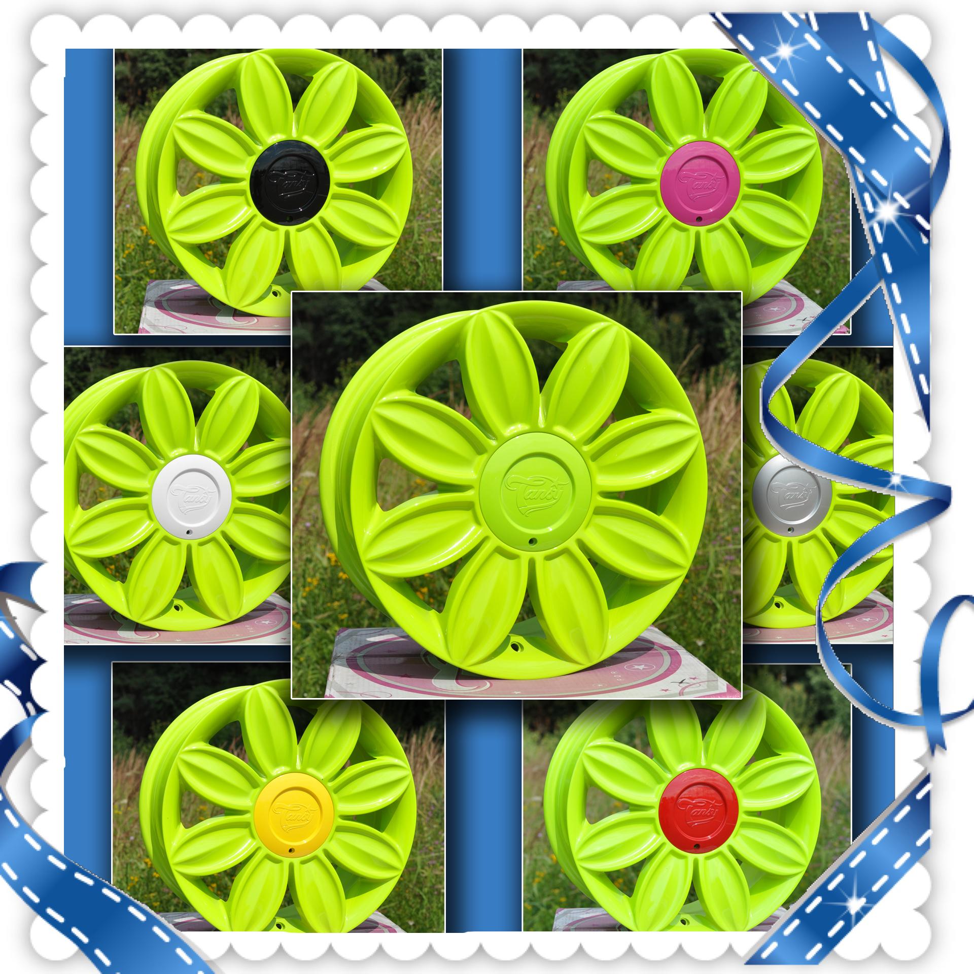 красивые диски; модные диски; кислотно зеленые диски на авто