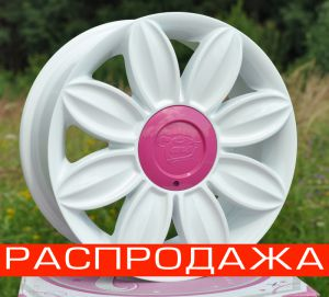 Диск Tansy wheels артикул TW-D02 модель DAISY R16х7.0 ЕТ35 PCD 4-100/114,3 HUB 73,1 цвет диска W цвет крышки PI ― Интернет магазин shop.larex.ru