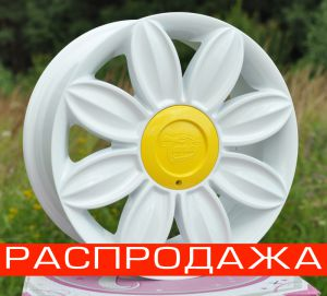 Диск Tansy wheels артикул TW-D07 модель DAISY R16х7.0 ЕТ40 PCD 5-108/114,3 HUB 73,1 цвет диска W цвет крышки Y ― Интернет магазин shop.larex.ru